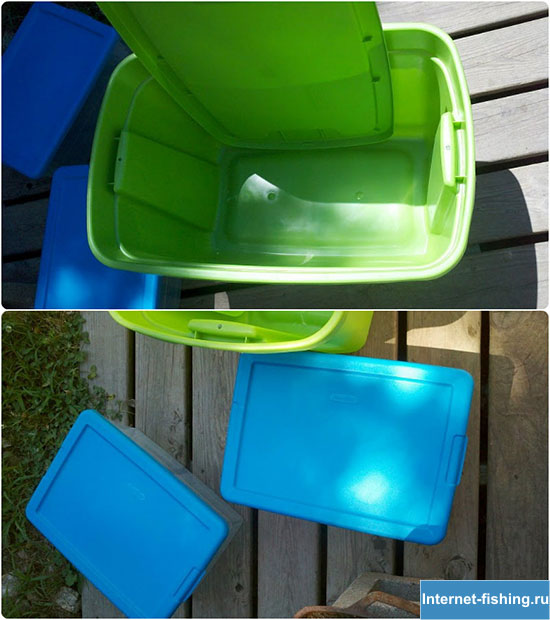Первые покупки для червятника – пластиковые контейнеры