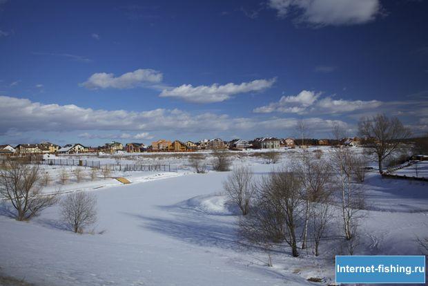 Озеро Никольское зимой