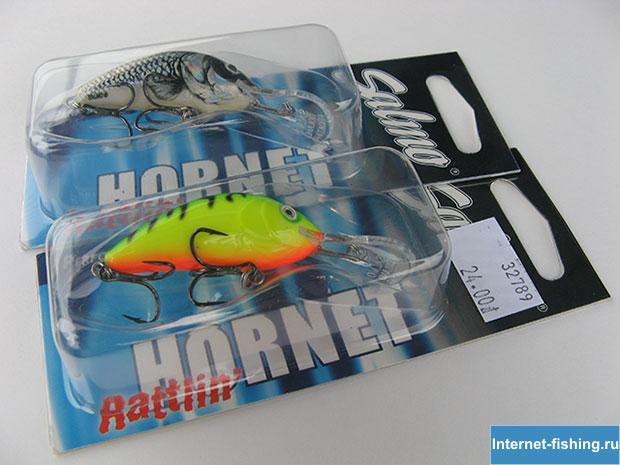 Воблеры Salmo Rattlin' Hornet 4.5 в упаковке