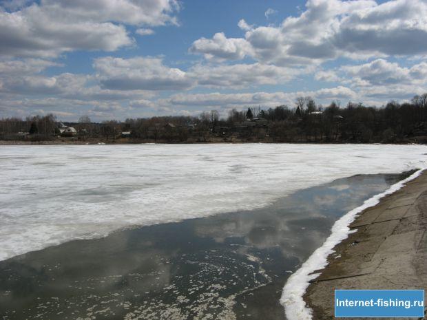 Весна на озере Брынь (Калужская область)
