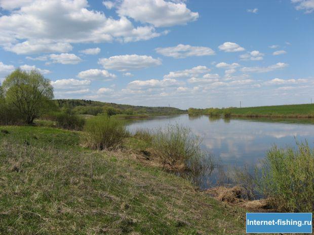 Река Угра в районе Тучнево